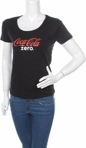 Czarna bluzka Tee Jays z okrągłym dekoltem z krótkim rękawem