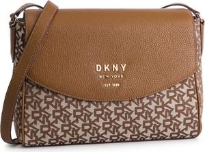 43530489fad9d Brązowa torebka DKNY na ramię w młodzieżowym stylu średnia