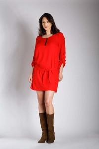 Sukienka Nommo z długim rękawem w stylu casual mini