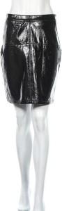 Czarna spódnica Reserved w stylu glamour ze skóry mini