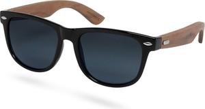 Trendhim Czarne przydymione okulary przeciwsłoneczne z drewna hebanowego