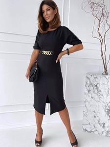 Sukienka Versada w stylu casual midi z krótkim rękawem