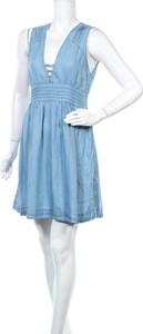 Niebieska sukienka Funky Buddha mini