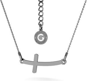GIORRE SREBRNY NASZYJNIK Z KRZYŻEM GRAWER 925 : Kolor pokrycia srebra - Pokrycie Czarnym Rodem