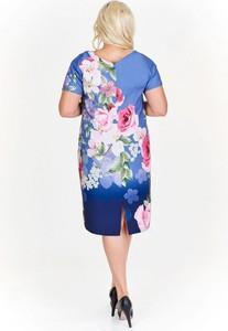Niebieska sukienka Nubile midi
