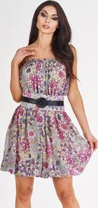 Sukienka Fokus z tkaniny bez rękawów