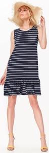 Sukienka Top Secret z okrągłym dekoltem z długim rękawem w stylu casual