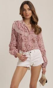 Różowa bluzka Renee z długim rękawem