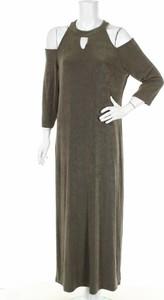 Zielona sukienka Chico`s z długim rękawem w stylu casual maxi