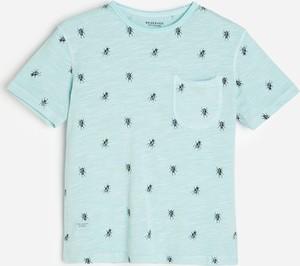 Niebieska koszulka dziecięca Reserved dla chłopców z krótkim rękawem