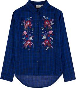 Granatowa koszula dziecięca Tom Tailor w krateczkę