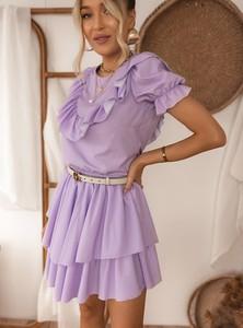 Fioletowa spódnica SELFIEROOM w stylu casual