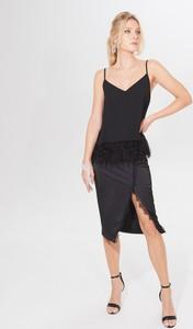 Czarna spódnica Mohito z satyny midi