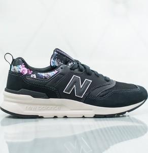 Granatowe buty sportowe New Balance z nadrukiem z płaską podeszwą sznurowane