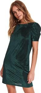 Zielona sukienka Top Secret w stylu casual z krótkim rękawem