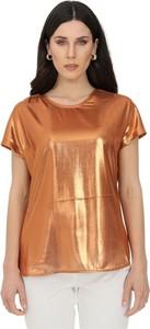 Brązowa bluzka Pinko z krótkim rękawem
