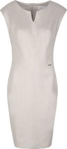 Sukienka Zaps Collection bez rękawów ołówkowa z zamszu
