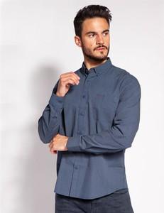 Niebieska koszula Lee Cooper z bawełny w stylu casual