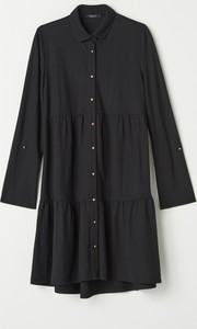 Sukienka Mohito koszulowa z długim rękawem mini
