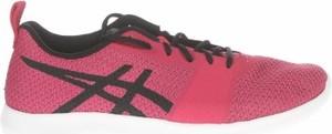 Różowe buty sportowe ASICS sznurowane z płaską podeszwą