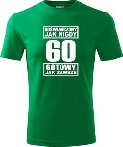 Zielony t-shirt TopKoszulki.pl z bawełny w młodzieżowym stylu z krótkim rękawem