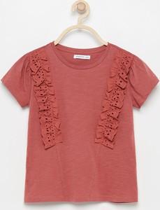 Fioletowa bluzka dziecięca Reserved z krótkim rękawem