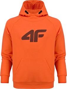 Pomarańczowa bluza dziecięca 4F z bawełny