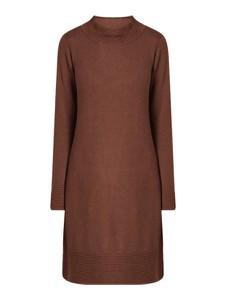Brązowa sukienka Esprit w stylu casual mini z bawełny
