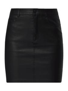 Czarna spódnica Noisy May ze skóry ekologicznej mini