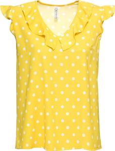 Bluzka bonprix RAINBOW w stylu retro z dekoltem w kształcie litery v