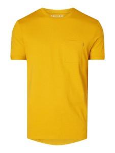 T-shirt Review z bawełny z krótkim rękawem w stylu casual