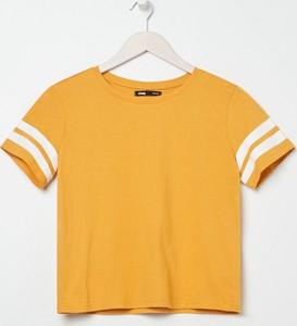 T-shirt Sinsay z krótkim rękawem z okrągłym dekoltem w stylu casual