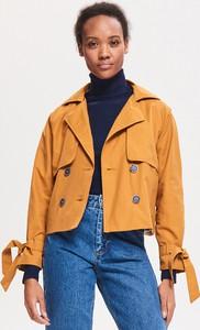Żółta kurtka Reserved w stylu casual krótka