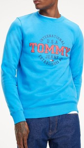 Niebieska bluza Tommy Jeans z bawełny w młodzieżowym stylu