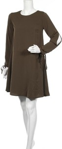 Sukienka MOE z okrągłym dekoltem mini z długim rękawem