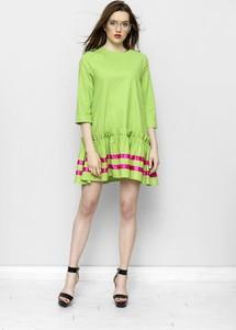 Sukienka Freeshion mini z okrągłym dekoltem w stylu casual