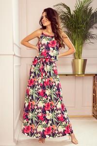 Sukienka NUMOCO na ramiączkach z okrągłym dekoltem