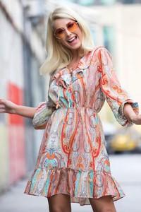 Sukienka Ivet.pl z długim rękawem mini