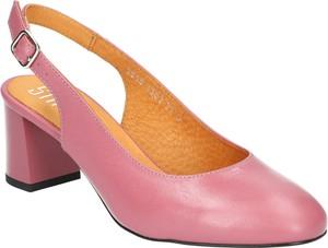 Sandały SIMEN ze skóry w stylu klasycznym