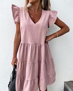 Różowa sukienka Kendallme w stylu casual oversize