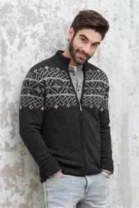 Sweter Lanieri Fashion w młodzieżowym stylu z wełny