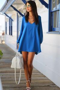 Niebieska tunika styl asyk