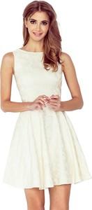 Sukienka NUMOCO bez rękawów rozkloszowana z okrągłym dekoltem