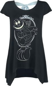 Czarny t-shirt Emp z okrągłym dekoltem w młodzieżowym stylu