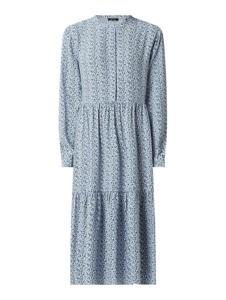 Niebieska sukienka Opus koszulowa w stylu casual z długim rękawem