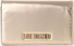 Złota torebka Love Moschino mała do ręki