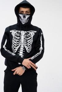 Czarna bluza Mystars z nadrukiem w młodzieżowym stylu z bawełny