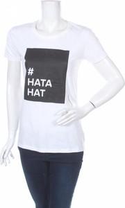 T-shirt Neutral w młodzieżowym stylu z okrągłym dekoltem