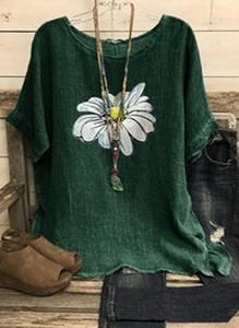 Bluzka Cikelly z długim rękawem z okrągłym dekoltem