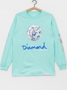 Koszulka z długim rękawem Diamond Supply Co. z bawełny